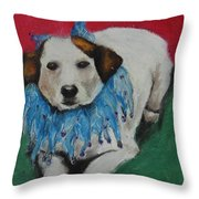 Mikey Throw Pillow by Jeanne Fischer