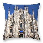 Milan Cathedral  Throw Pillow by Antonio Scarpi