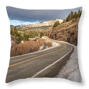 Mile One Throw Pillow by Sue Smith