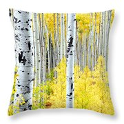 Miles Of Gold Throw Pillow by The Forests Edge Photography - Diane Sandoval