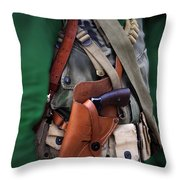 Military Small Arms 02 Ww II Throw Pillow by Thomas Woolworth