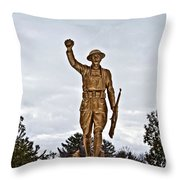 Military Soldier Memorial Throw Pillow by Ms Judi