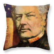 Millard Fillmore Throw Pillow by Corporate Art Task Force