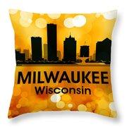 Milwaukee Wi 3 Throw Pillow by Angelina Vick