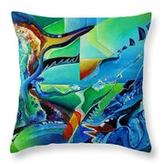 mindscape no.2-Improvisation Saxophone and Piano Throw Pillow by Wolfgang Schweizer
