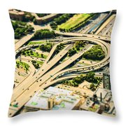Mini Motorway Throw Pillow by Andrew Paranavitana
