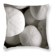 Mini Sand Dollars Throw Pillow by Corinne Rhode