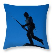 Minnesota Soldier Monument At Gettysburg Throw Pillow by John Greim