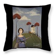 Mirabelle's Cat Throw Pillow by Catherine Holman