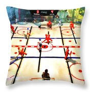 Miracle On Plastic Throw Pillow by Benjamin Yeager