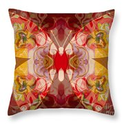 Miracles Can Happen Abstract Butterfly Artwork Throw Pillow by Omaste Witkowski