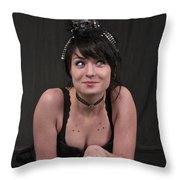 Misha In Black 2 Throw Pillow by Sean Griffin