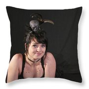 Misha in Black 3 Throw Pillow by Sean Griffin