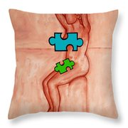 Missing Piece 6 Throw Pillow by Patrick J Murphy
