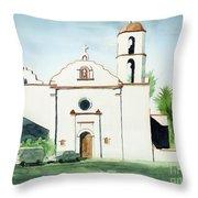 Mission San Luis Rey  Throw Pillow by Kip DeVore