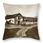 Mission San Rafael California  Circa 1880 Throw Pillow by California Views Mr Pat Hathaway Archives