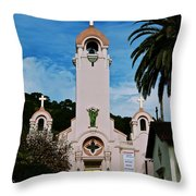 Mission San Rafael Throw Pillow by Eric Tressler