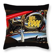 Mister Cool Throw Pillow by Chris Berry