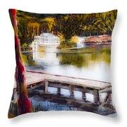 Misty Dream Throw Pillow by Kip DeVore