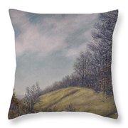 Misty Mountain Valley Throw Pillow by Kathleen McDermott