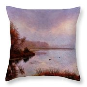 Misty Perceptions Throw Pillow by Pamela Phelps
