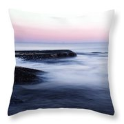 Misty Sea Throw Pillow by Nicklas Gustafsson