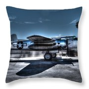 Mitchell B-25J Throw Pillow by Tommy Anderson