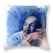MLK Day Throw Pillow by Ken Meyer jr