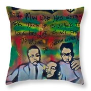 Mlk Fatherhood 1  Throw Pillow by Tony B Conscious