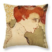 Mlle Marcelle Lender Throw Pillow by Henri de Toulouse-Lautrec
