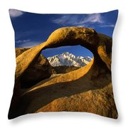 Mobius Arch Throw Pillow by Inge Johnsson