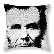 Modern Abe - Abraham Lincoln Art By Sharon Cummings Throw Pillow by Sharon Cummings
