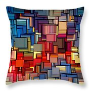 Modern Abstract Xii Throw Pillow by Lourry Legarde