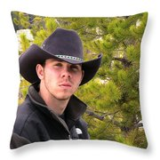 Modern Day Cowboy Throw Pillow by Thomas Woolworth