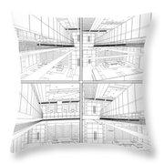 Modern Hall Throw Pillow by Nenad Cerovic