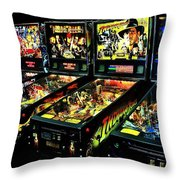 Modern Machines Throw Pillow by Benjamin Yeager