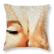 Modern Marilyn - Marilyn Monroe Art By Sharon Cummings Throw Pillow by Sharon Cummings
