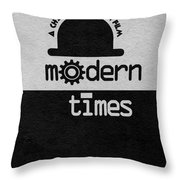 Modern Times Throw Pillow by Ayse Deniz