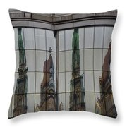 Modern Totems Throw Pillow by Joan Carroll