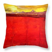 Mojave Dawn Original Painting Throw Pillow by Sol Luckman