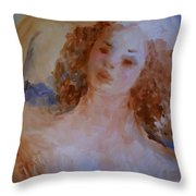 Mom near Jupiter Throw Pillow by Laurie D Lundquist
