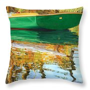 Moment Of Reflection Xi Throw Pillow by Marguerite Chadwick-Juner