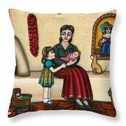 Momma Do You Love Me? Throw Pillow by Victoria De Almeida