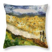 Momzie's Nature -t02-2v03f Throw Pillow by Variance Collections
