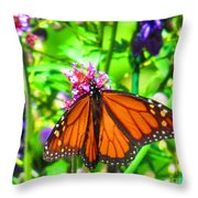 Monarch Beauty Throw Pillow by Nicole Engelhardt