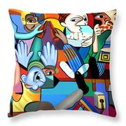 Monday Night Football Throw Pillow by Anthony Falbo