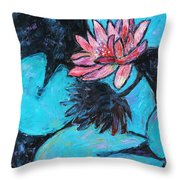 Monet's Lily Pond IIi Throw Pillow by Xueling Zou