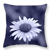 Monochrome Aster Throw Pillow by Sonali Gangane