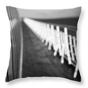 Monochrome Sun Deck Throw Pillow by Anne Gilbert