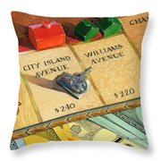 Monopoly On City Island Avenue Throw Pillow by Marguerite Chadwick-Juner